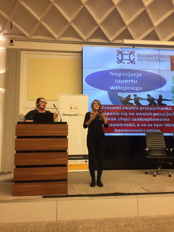 Marzena Sochańska-Kawiecka kierowniczka ZM PZG_konferencja_Administracja centralna narzecz Konwencji oprawach osób zniepełnosprawnościami. Monitoring wdrażania
