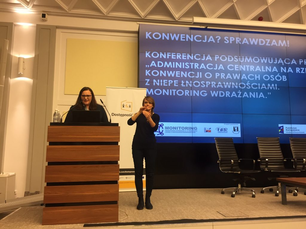 Pani Minister Małgorzata Jarosińska-Jedynak MIiR_konferencja_Konwencja.gov.pl Monitoring wdrażania